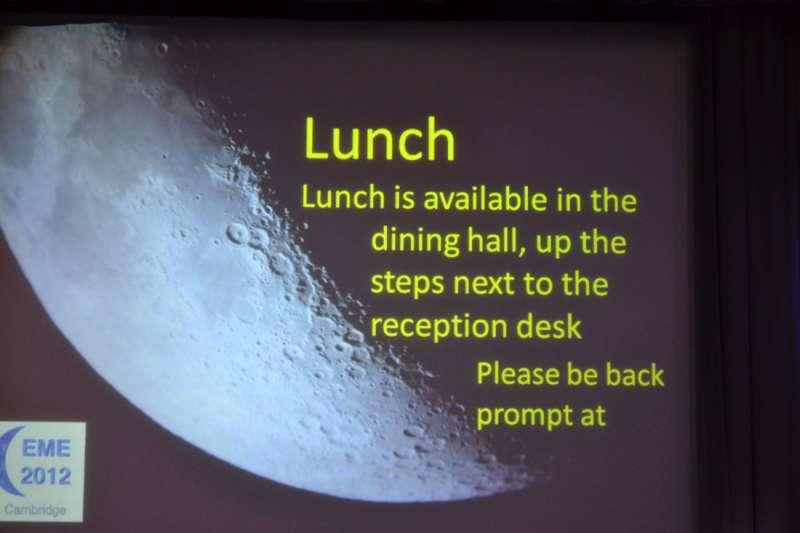 EME2012 - Lunch