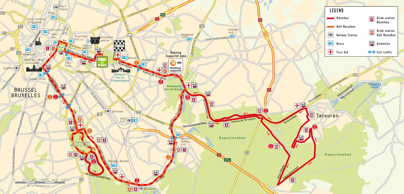 Parcours Marathon Bruxelles