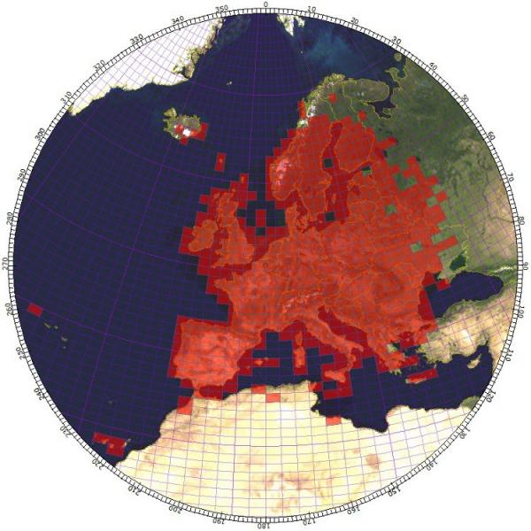 Carrés contactés sur 144 MHz par modes de propagation terrestres (pas d'EME)